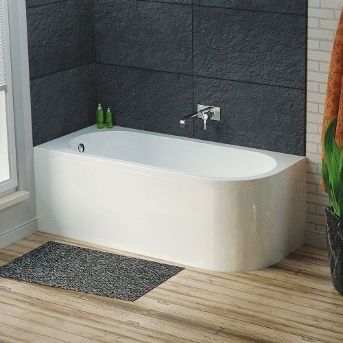 Larne 1700mm x 725mm Corner Bath & Panel - Left Hand
